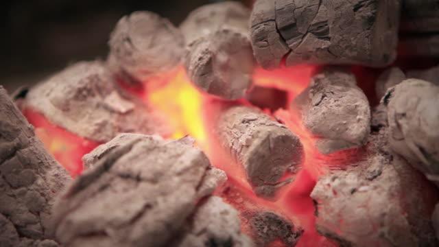 Flaming coal