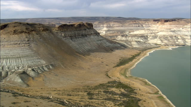 Flaming Gorge National Recreation Area  - Aerial View - Wyoming, Sweetwater County, United States