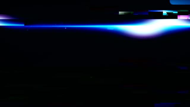 vidéos et rushes de fond de fusée avec le glitch - faisceau de lumière