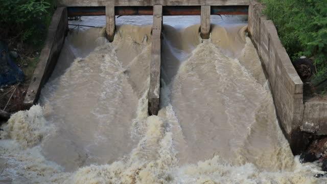 flash flood through the dam spillway. - drain stock videos & royalty-free footage