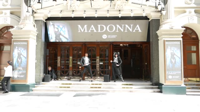 flash mob of 20 madonna dancers announce that madonna is bringing her madame x tour to the uk with a residency at the palladium on may 13, 2019 at... - ウェストエンド点の映像素材/bロール