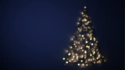 Flashing blurred Christmas tree, Germany