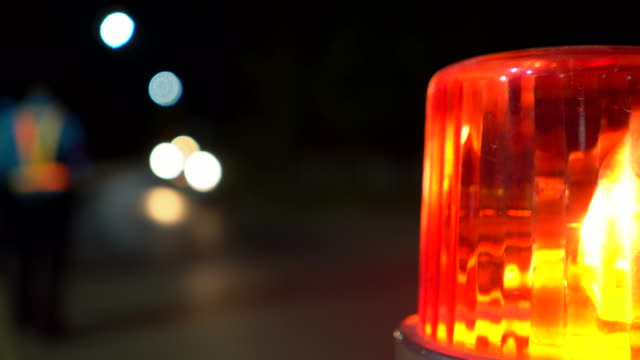 flashing emergency light - danger stock videos & royalty-free footage
