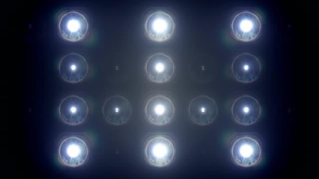 flashing floodlights blue - scoreboard stock videos & royalty-free footage