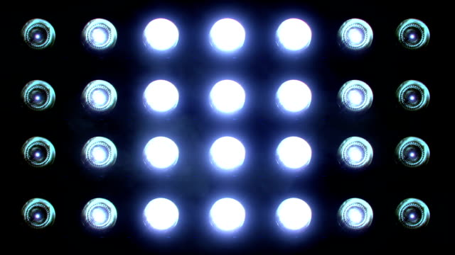 flashing floodlights blue - led light stock videos & royalty-free footage