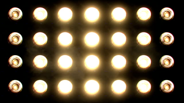 flashing floodlights orange - lampada elettrica video stock e b–roll