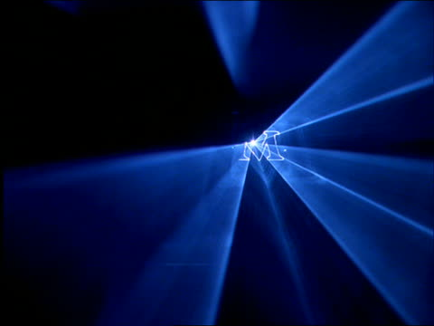 """Flashing laser lights spelling out """"Mexico"""" / Cancun"""