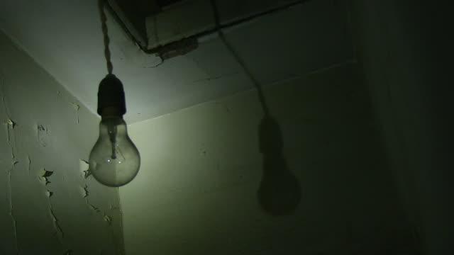 A flashing light bulb shot