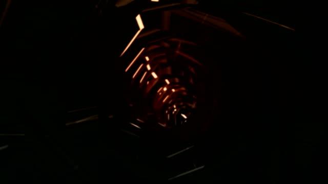点滅トンネル - 内部点の映像素材/bロール