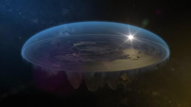 vidéos et rushes de flat earth diagram spin loopable night - schéma explicatif