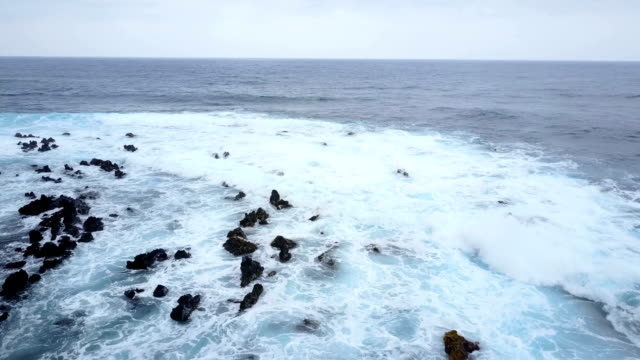 Flat Horizon Off Maui Coast by Drone at Dusk