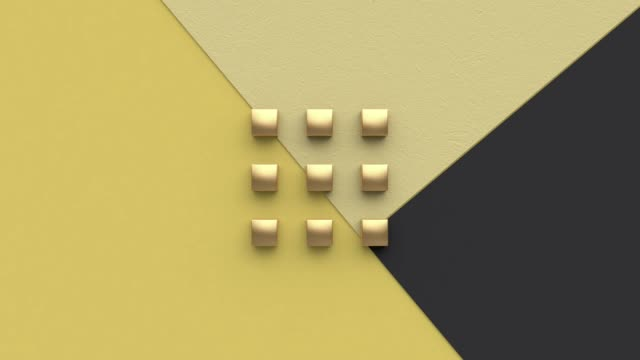 flat lay motion geometric shape abstract background 3d rendering yellow black - flat lay stock videos & royalty-free footage