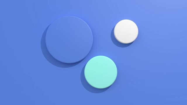 flat lay/flat blue background 3d rendering motion graphic geometric shape - shape stock videos & royalty-free footage