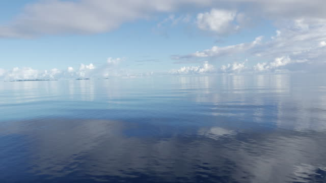 Flat sea surface on sunny day