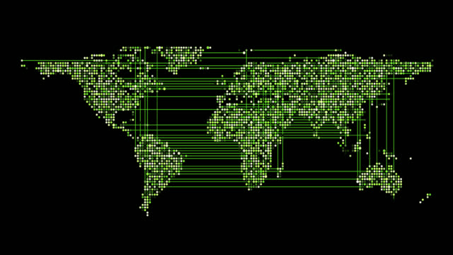 vídeos y material grabado en eventos de stock de mapa plano mundial fondos - aumento digital