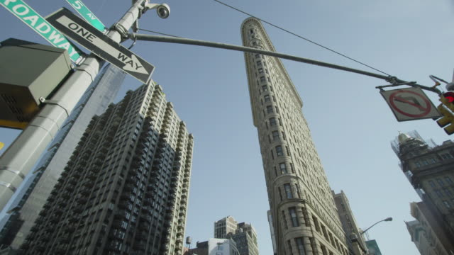 flatiron building day - flatiron building manhattan stock videos and b-roll footage
