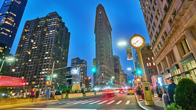 flatiron building. madison square. - flatiron building manhattan stock videos and b-roll footage