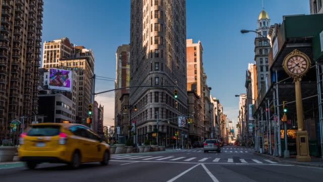flatiron building new york - fifth avenue stock videos & royalty-free footage