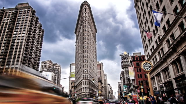 flatiron building, new york - flatiron building manhattan stock videos and b-roll footage