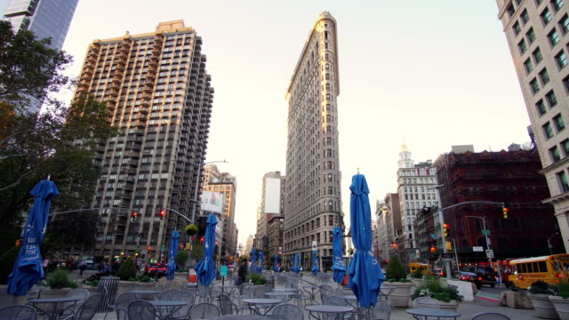 flatiron building time-lapse - flatiron building manhattan stock videos and b-roll footage