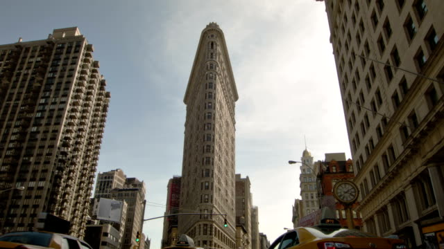 flatiron building - flatiron building manhattan stock videos & royalty-free footage