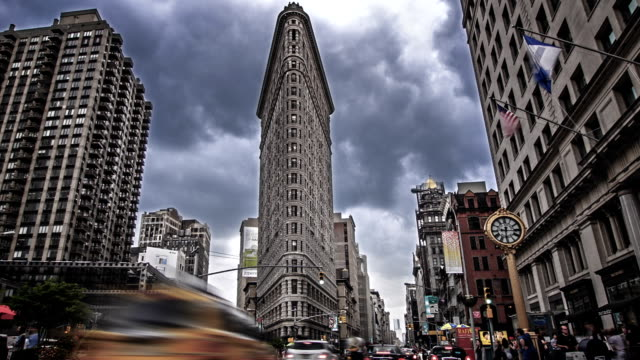 flatiron building - flatiron building manhattan stock videos and b-roll footage