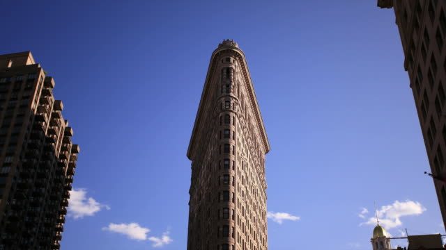 flatiron hd timelapse - flatiron building manhattan stock videos and b-roll footage