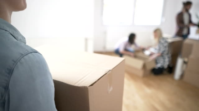 flatmates - moving house stock videos & royalty-free footage