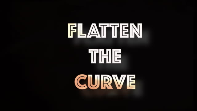 flatten the curve covid19 computer graphic - curve stock videos & royalty-free footage