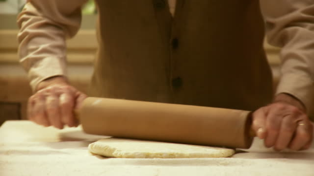 hd: flattening with a rolling pin - rolling pin stock videos & royalty-free footage