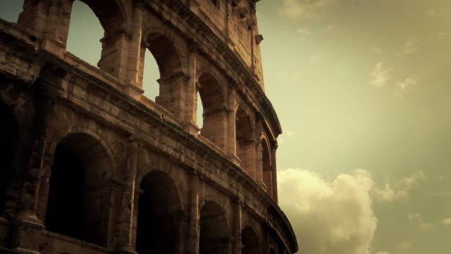 flavian amphitheater coliseum of rome hd video - colosseum rome stock videos and b-roll footage