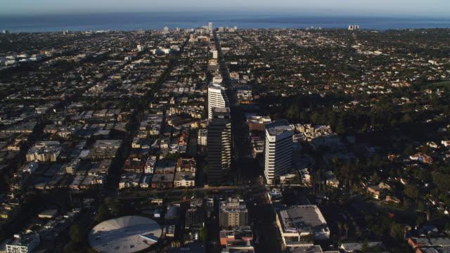 Flaying above Santa Monica Boulevard toward Santa Monica in the distance. Shot in 2010.