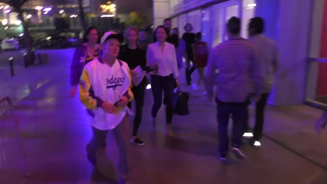Flea at the Lakers vs Clippers game at Staples Center in Los Angeles in Celebrity Sightings in Los Angeles