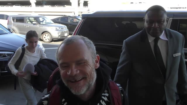 Flea catches a flight out of LAX Airport in Los Angeles in Celebrity Sightings in Los Angeles