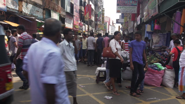 Flea clothing market at Colombo, Sri Lanka. Pettah district