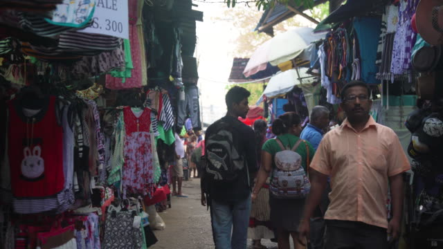 flea clothing market at colombo, sri lanka - retail occupation stock videos & royalty-free footage