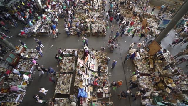 flea market encants barcelona - flea market stock videos & royalty-free footage