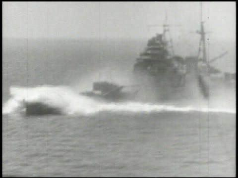 fleet of imperial japanese navy battleships, warships, moving in the pacific ocean, sailing against rough seas, waves coming up on deck. wwii, world... - battleship stock videos & royalty-free footage