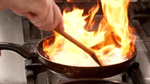Flembe cooking
