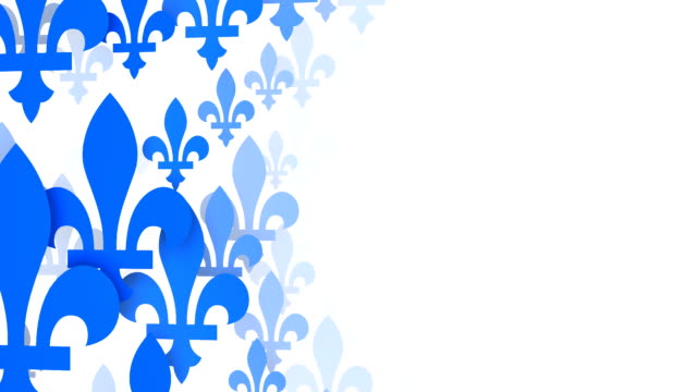fleur de lys from the quebec flag, white background (loopable) - quebec flag stock videos & royalty-free footage