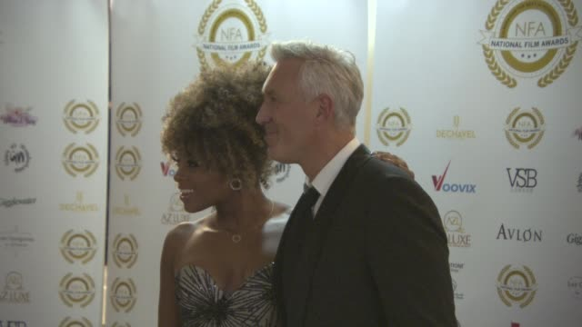 fleur east and martin kemp at the 4th annual national film awards at porchester hall on march 28, 2018 in london, england. - ポーチェスター点の映像素材/bロール