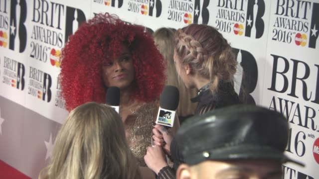 fleur east at the brit awards at the o2 arena on february 24 2016 in london england - ブリット・アワード点の映像素材/bロール