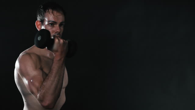 flexing muscles man - pectoral muscle stock videos and b-roll footage