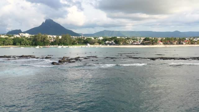 Flic En Flac Strand an der West Küste von Mauritius