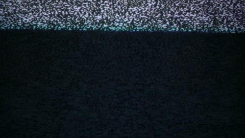 vídeos y material grabado en eventos de stock de ruido de parpadeo en viejo tv lenta - mensaje de error