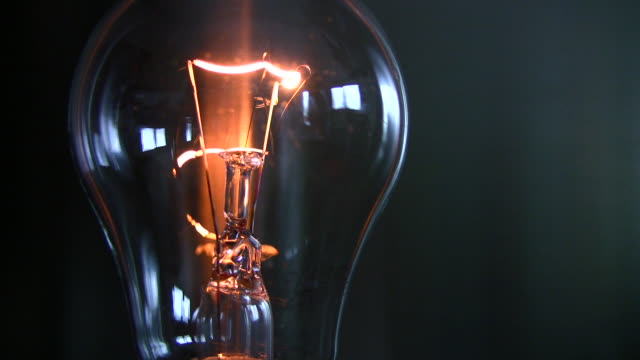 flickering bulb - filament stock videos & royalty-free footage