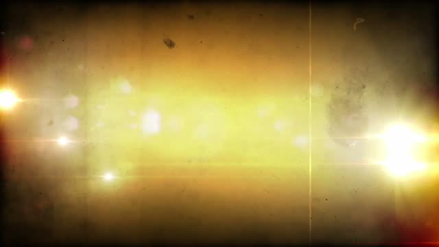 Flickering Grunge Lens Flares Overlay Loop - Warm Glow HD
