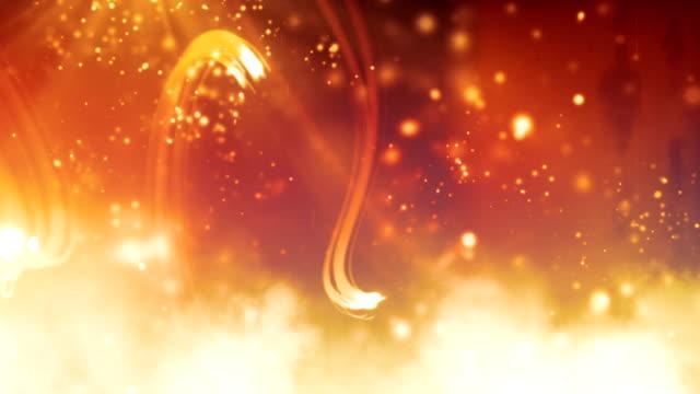 vídeos y material grabado en eventos de stock de parpadeo de night glow vetas loop orange de alta definición - fondo naranja