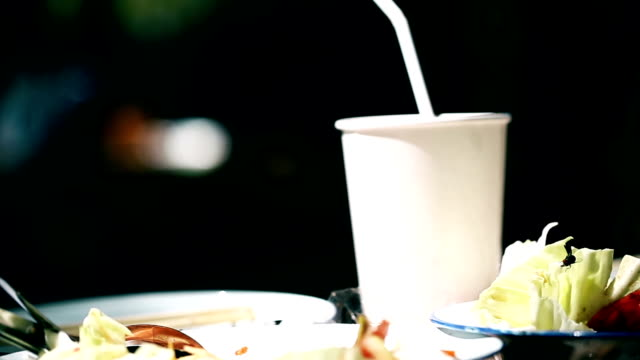 Flies swarm around food exposed to sunlight,dirt food.