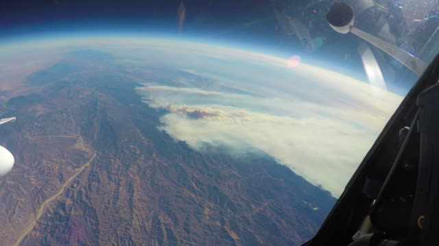 NASA flies the plane full of scientific equipment over the California fires to study the natural phenomenon and its impact on the environment...